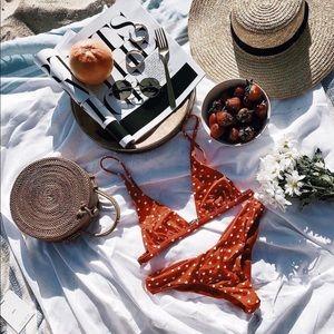 NWOT beach riot heart bikini set